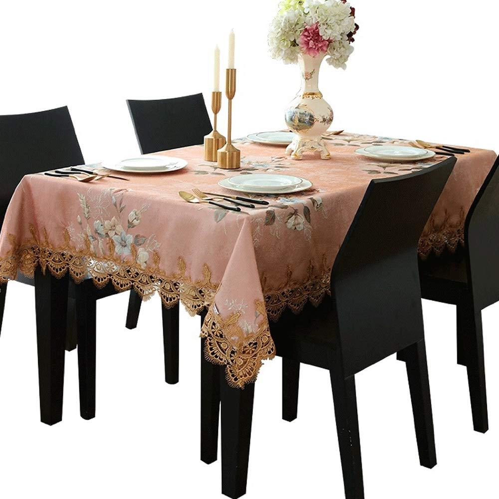 XF テーブルクロスコーヒーテーブル生地長方形女の子ハートピンク王女風小さな新鮮なテーブルリビングルームの女の子 キッチン用品 (Size : 140x200cm) 140x200cm  B07SPWK9HD