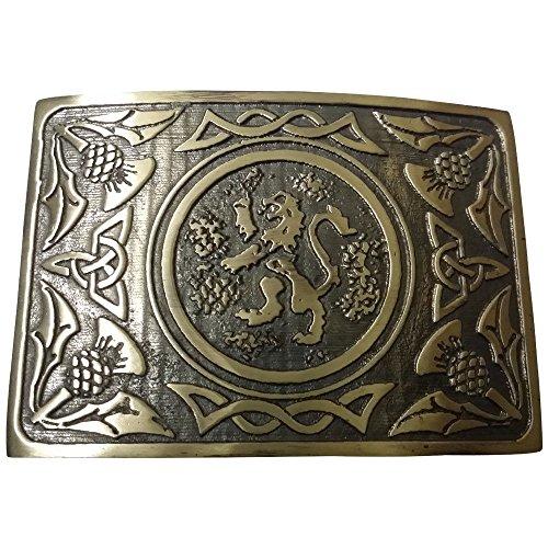 AAR Mens Traditional Rampant Lion Kilt Belt Buckle Antique Finish/Highland - Lion Rampant Kilt
