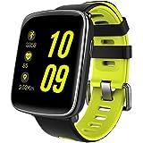 Smart Watch, MindKoo GV68 Reloj Inteligente de Pulsera Muñeca Impermeable de IP68 Deportivo Bluetooth 4.0 Multifunciones Correa reemplazable con Micrófono de Pantalla 1.54 pulgadas para iOS y Android