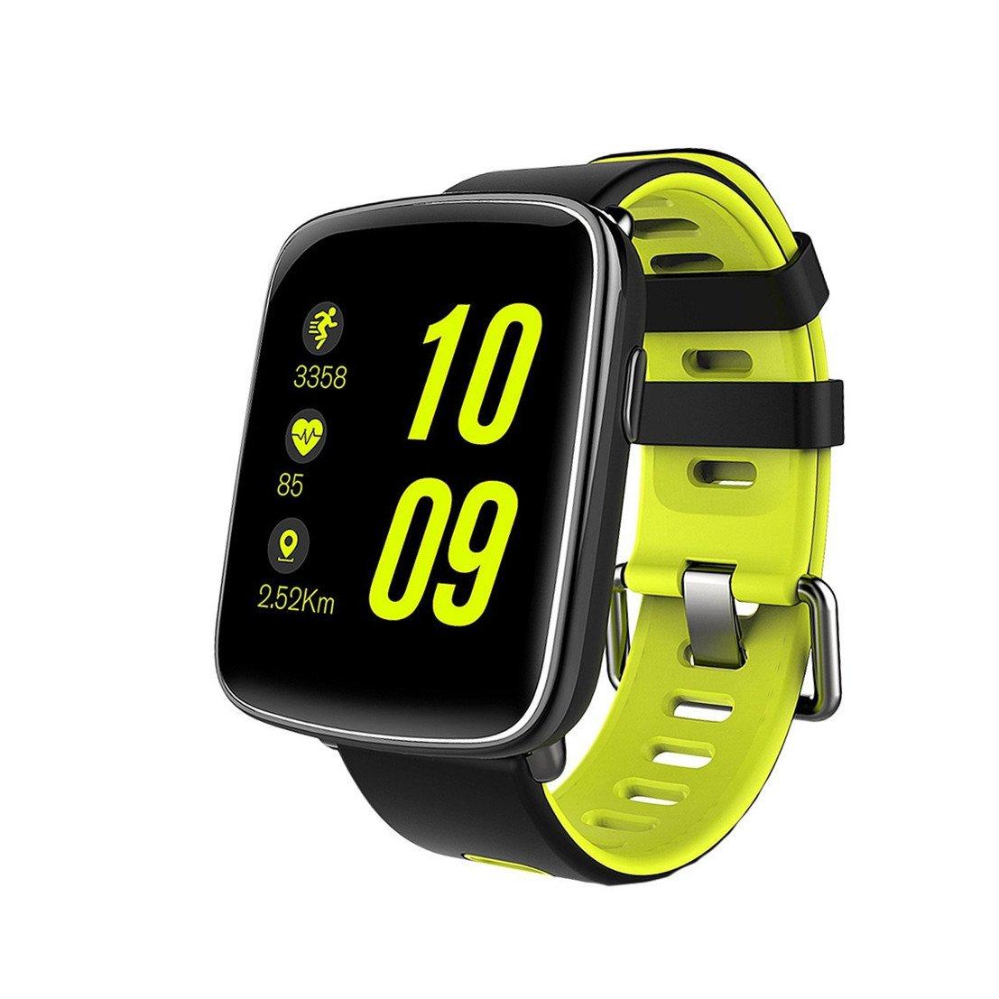 Smart Watch MindKoo Reloj Inteligente de Pulsera Muñeca Impermeable de IP68 Deportivo Bluetooth 4.0 Multifunciones Correa reemplazable con Micrófono ...