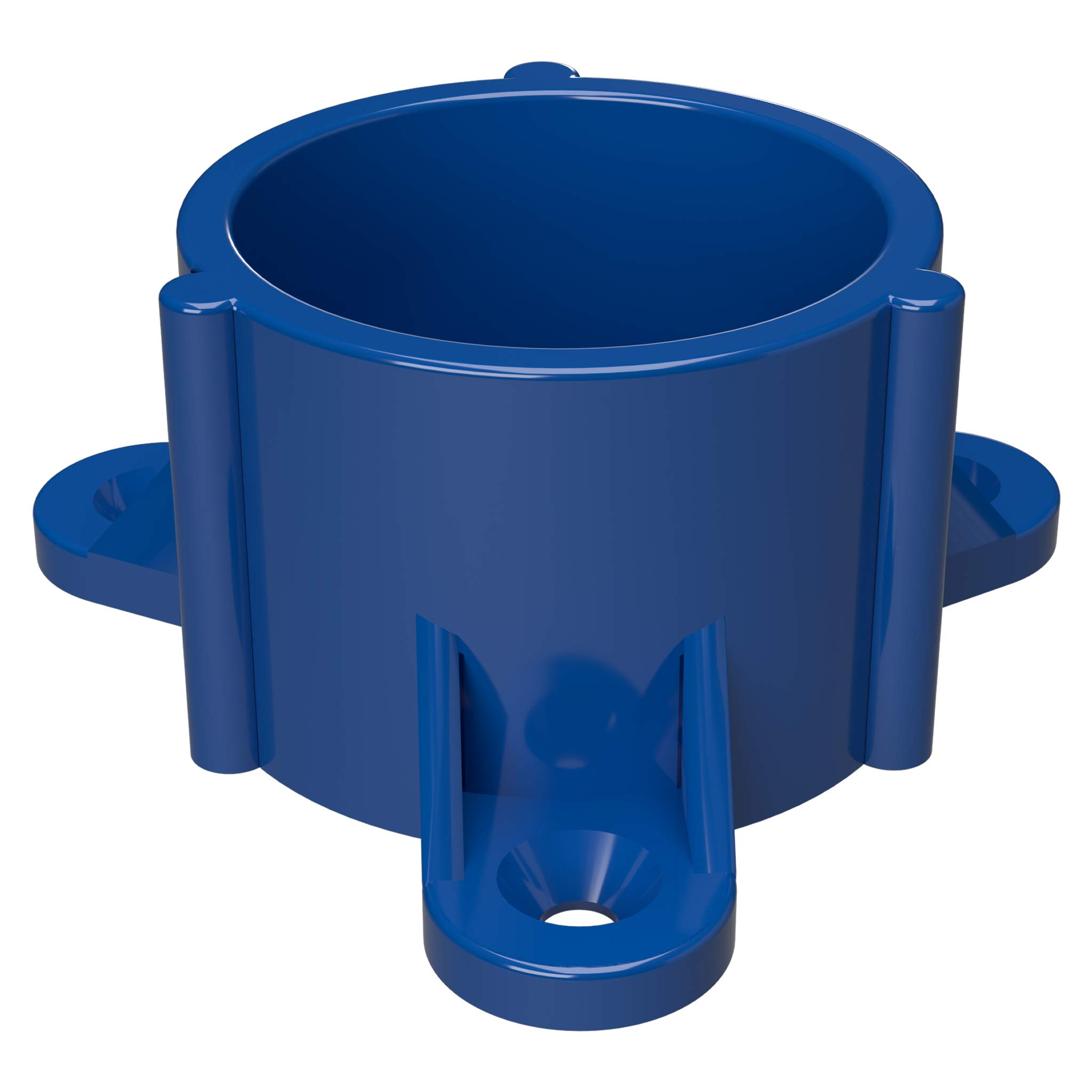FORMUFIT F114ECT-BL-10 PVC Table Cap, Furniture Grade, 1-1/4'' Size, Blue (Pack of 10)
