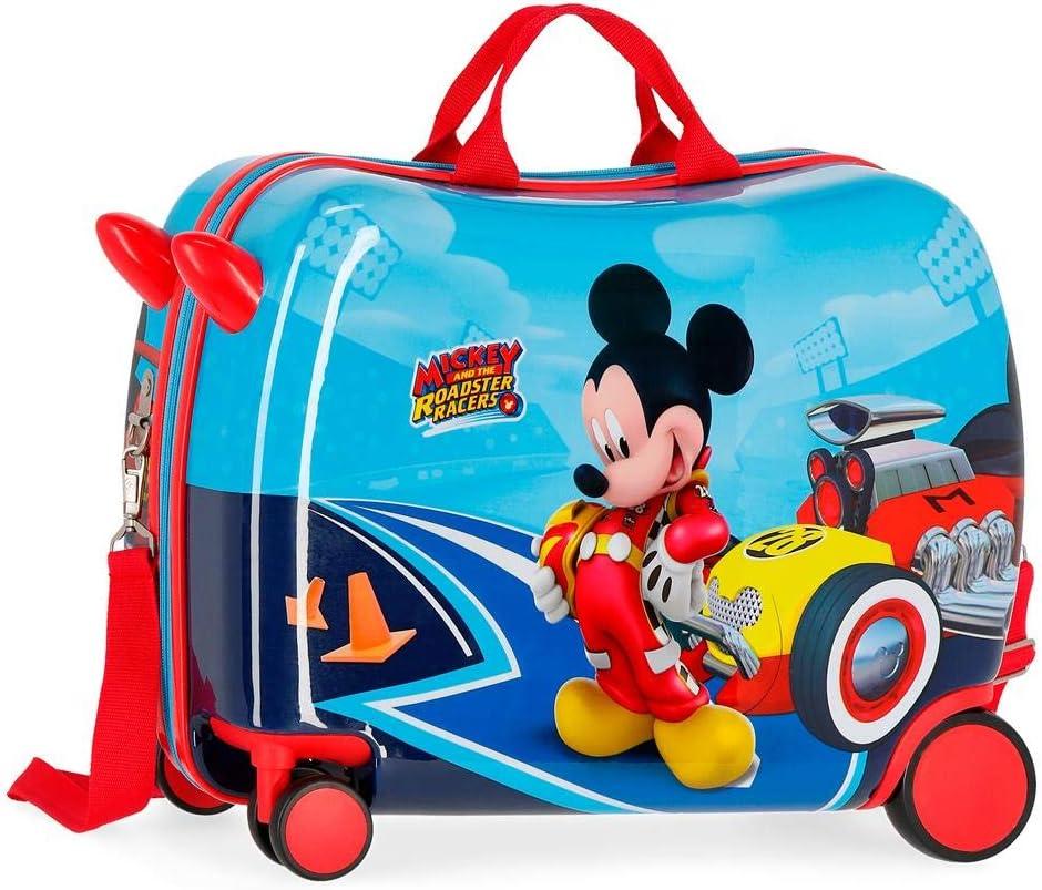 Maleta correpasillos ruedas multidireccionales Lets Roll Mickey