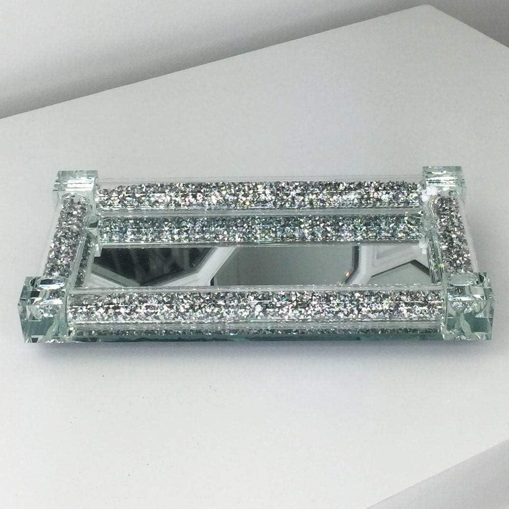 Silver Crushed Crystal Diamond Salt Snd Peper Shakers Kitchen Decor 2 Pc Set