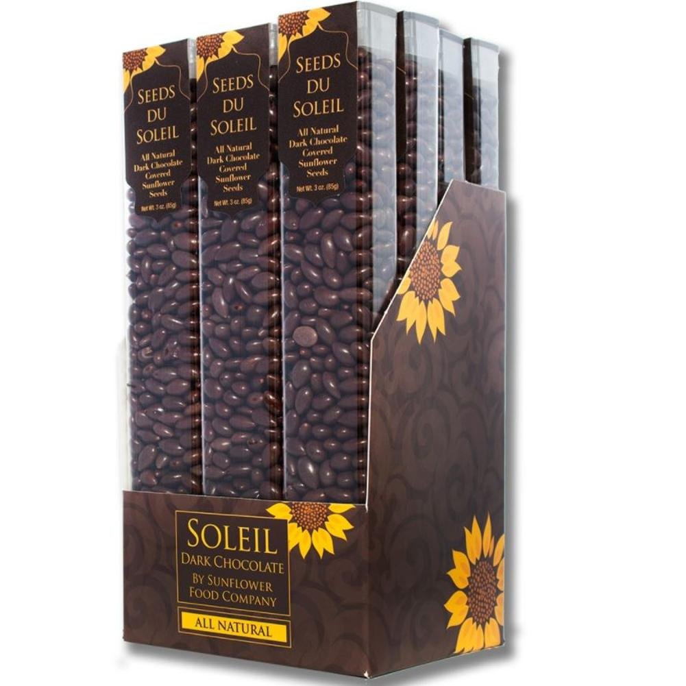 Seeds Du Soleil All Natural Dark Chocolate Covered Sunflower Seeds 3 oz Pack of 12