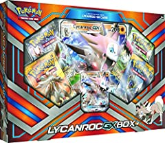 The Pokemon Lycanroc GX box helps you to jump start your collection. It comes with four 10-card booster packs, Each of which has at least one rare and may contain random foils. This pack's exclusive Lycanroc GX card is based on that character...