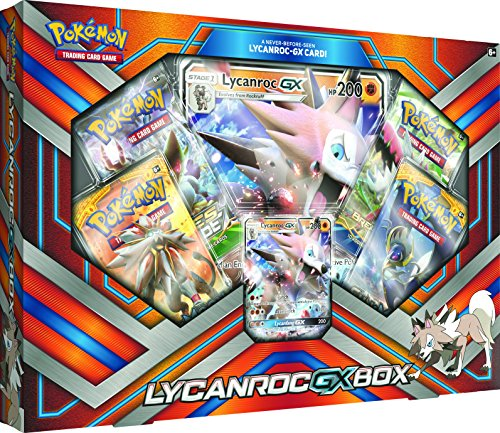 Pokemon TCG: 2017 Lycanroc Gx Box with 1 Foil Lycanroc Gx Card (Pokemon Trading Card Box)