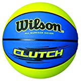 Wilson Clutch Blue/Lime basketball, Official Size