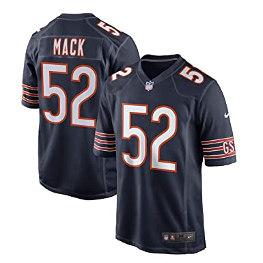 121ad4bb754 Outerstuff Youth NFL Chicago Bears #52 Khalil Mack Navy Kids Game Jersey  (YTH Large