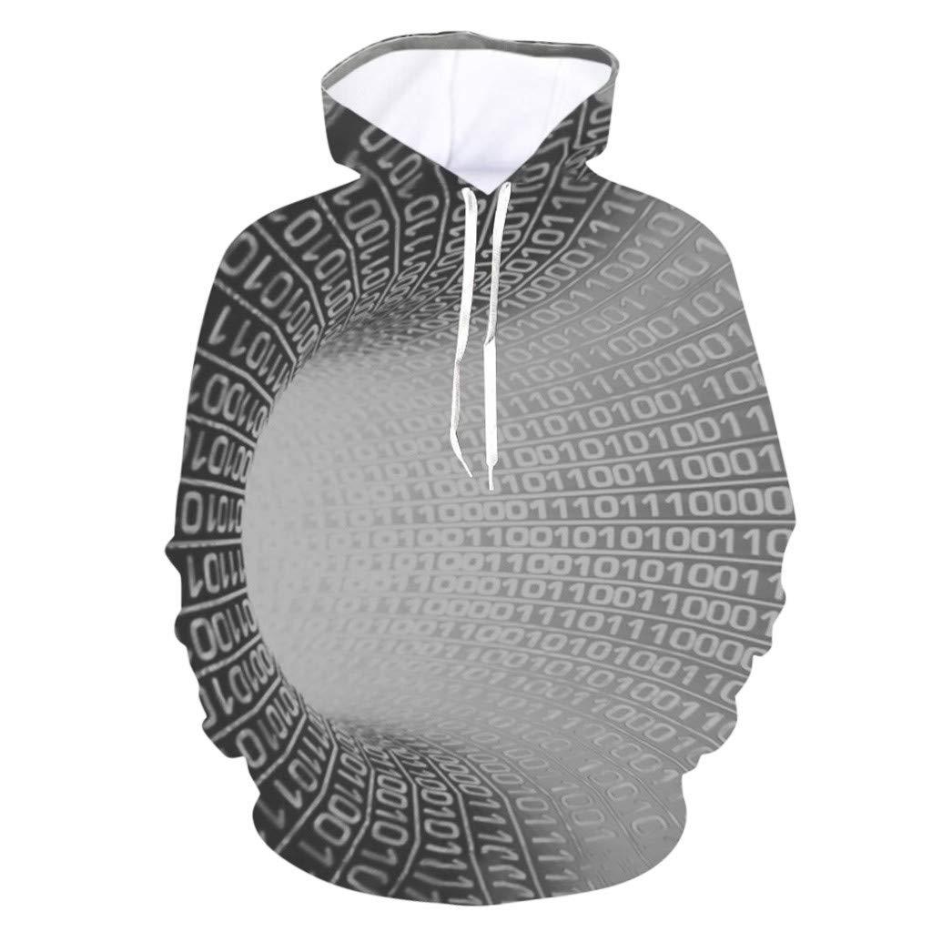 Loose Harajuku Creative Anxiety Print Pullover Men/'s Sweatshirts Casual Outwear