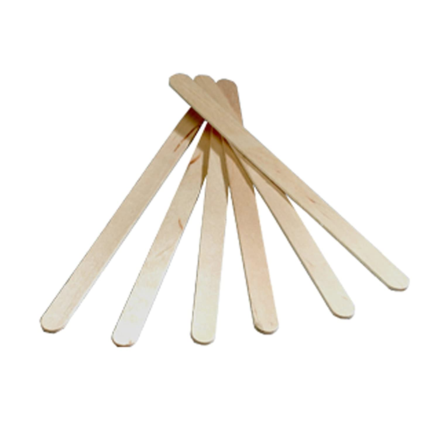 Mini Small Thin Wooden Wood Tongue Depressors Spatulas Wax Waxing Tatoo Sticks PLAIN