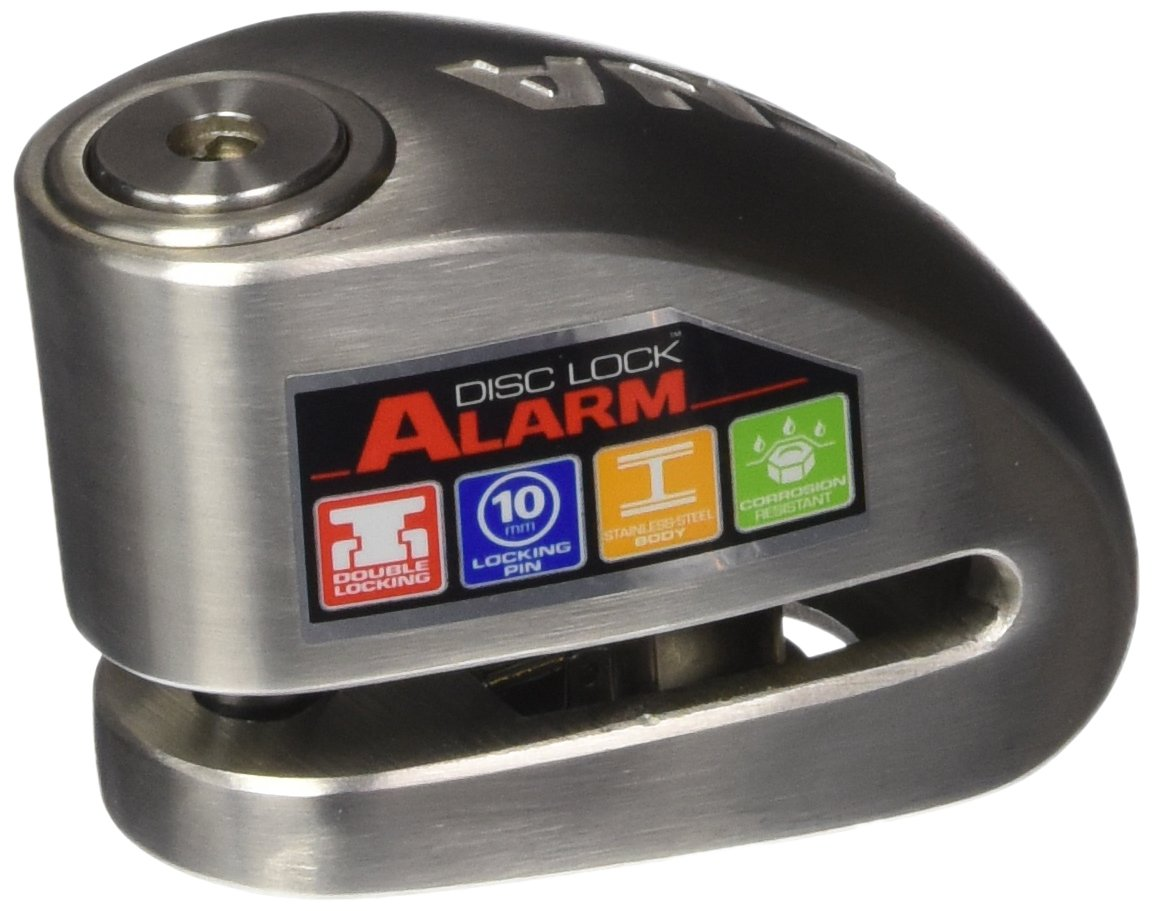 Xena (XX10-SS Disc-Lock Alarm for Motorcycle, Stainless Steel by Xena