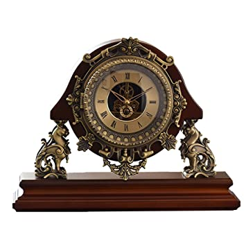 SESO UK- Reloj de Mesa Antiguo Europeo Mantla Creativo Escritorio silencioso Relojes Decorativos para la Sala de Estar: Amazon.es: Hogar