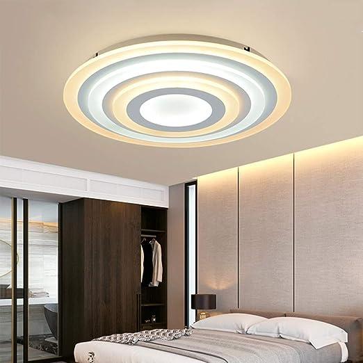 Amazon.com: Lámpara de techo redonda, ultra fina, LED ...