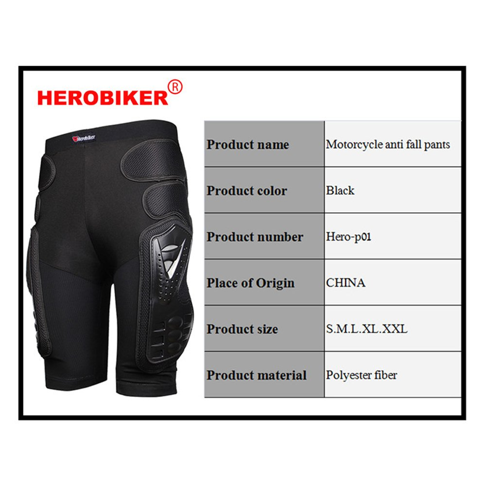 HEROBIKER Unisex Moto Sport Protective Gear Hip Pad Motorcross Off-Road Downhill Mountain Bike Skating Ski Hockey Armor Shorts (XL) by HEROBIKER (Image #4)