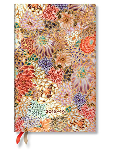 Kikka Floral Maxi Vertical Week-At-A-Time 18 Month Planner 2018-19 by Paperblanks