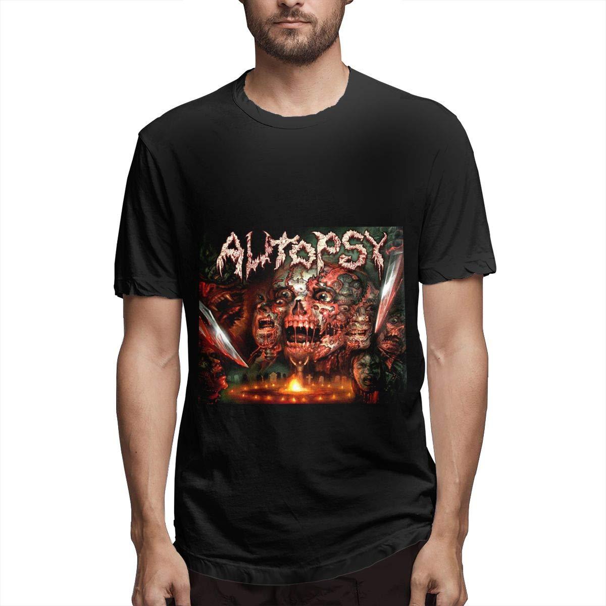 Lihehen S Death Metal Retro Printing Round Neck Shirt