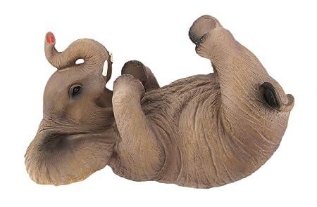 Playful Elephant Tabletop Wine Bottle Holder Decoration Statue Figurine