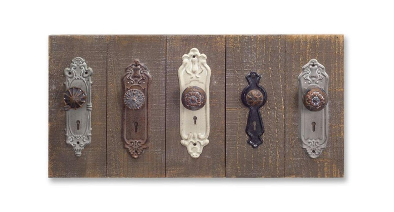 Melrose Pack of 2 Unique Decorative Collection of Door Knob Wall Plaque 12""