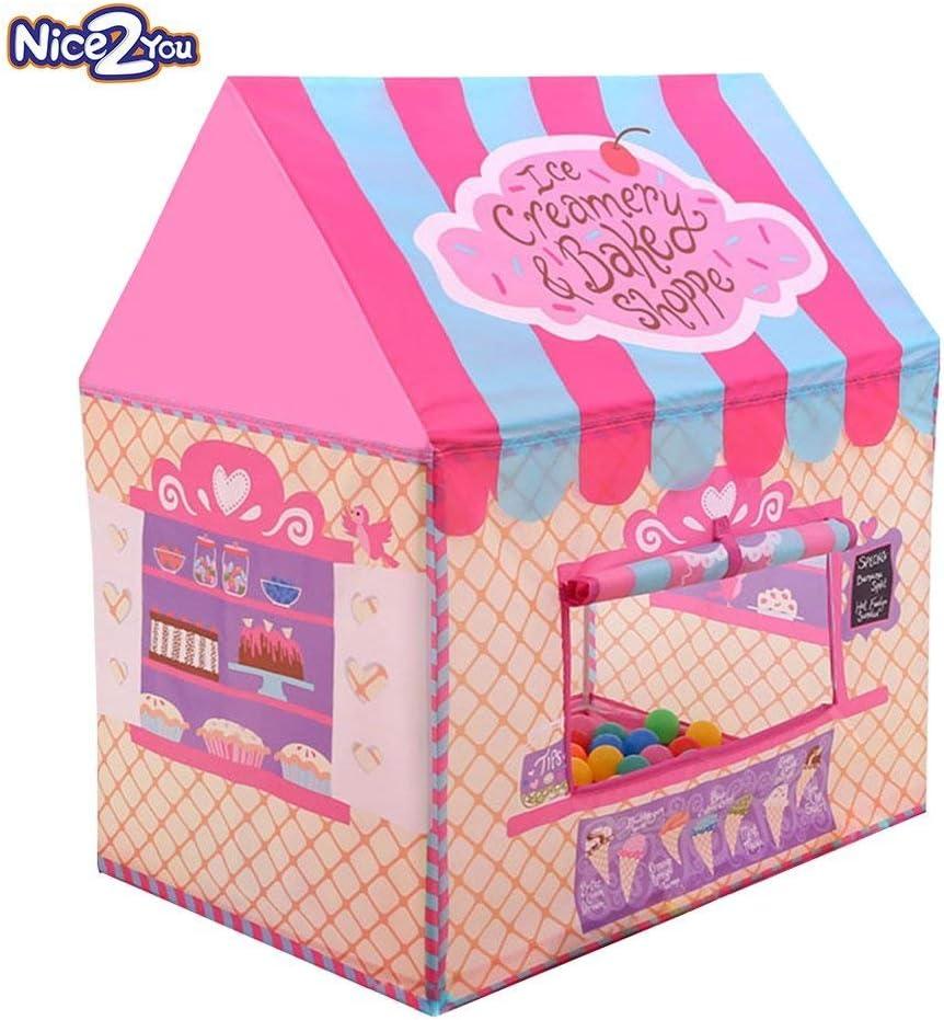 Carpas para Niños, Tienda Campaña Infantil, Playhouse para Niños Niñas Jugar Castle Interior al aire libre Ideal para Regalo de Cumpleaños