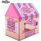 Tenda da gioco Tenda per bambini Principessa Castello per uso interno e all'aperto Rosa Nice2You
