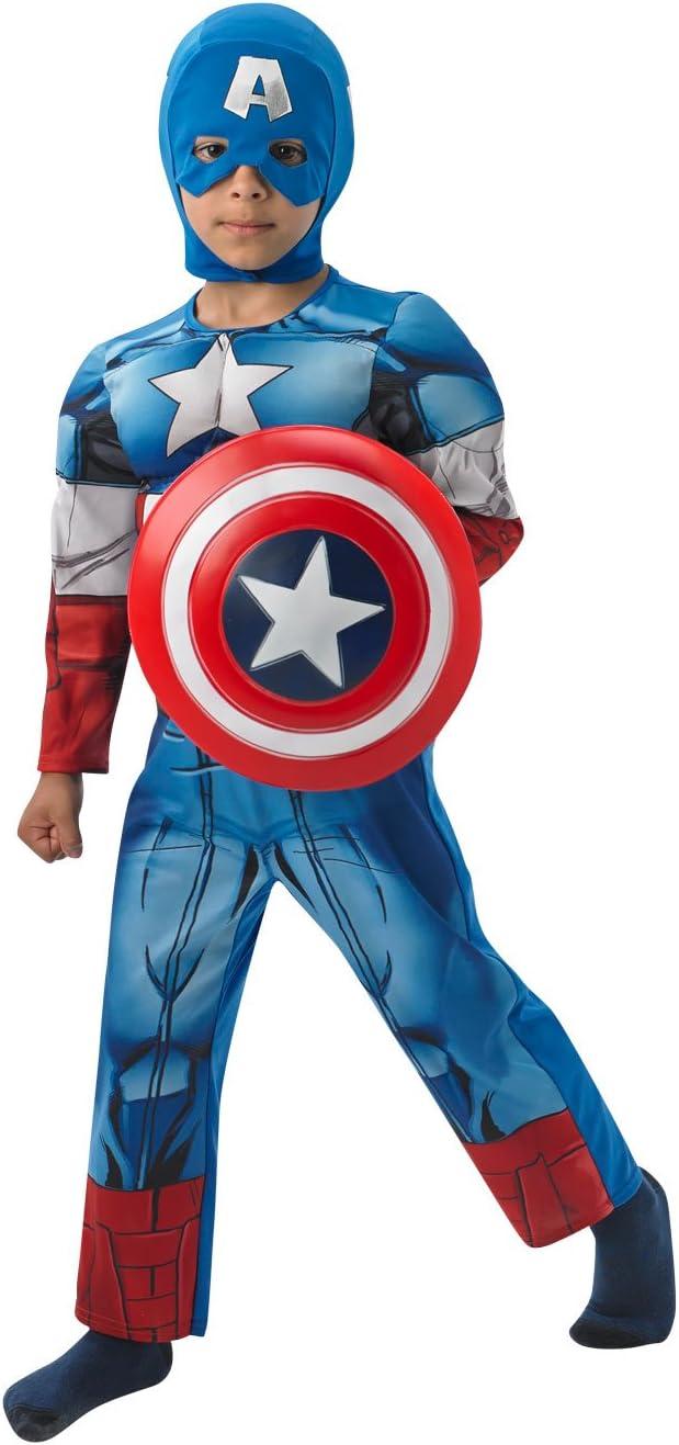 Rubie's - Disfraz infantil, diseño Capitán América de Marvel, talla M (3610262)