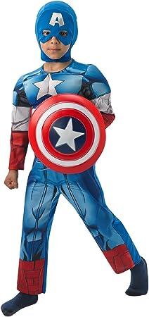 Rubies - Disfraz infantil, diseño Capitán América de Marvel, talla M ...