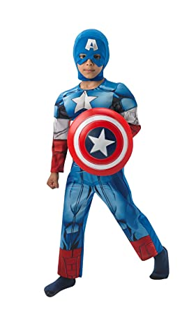 Rubies - Disfraz infantil, diseño Capitán América de Marvel, talla L (3610262)