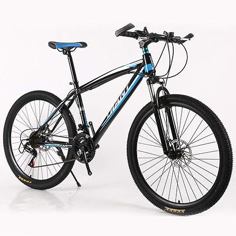 LISI Bicicleta de montaña Velocidad Variable Bicicleta 26 Pulgadas Amortiguador de 21 velocidades Bicicleta de montaña Adultos Cuadro de Aluminio,Blue: Amazon.es: Deportes y aire libre
