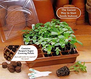 Burpee 36 Cell Greenhouse Kit Great For Seed Starting Plant Germination Kits