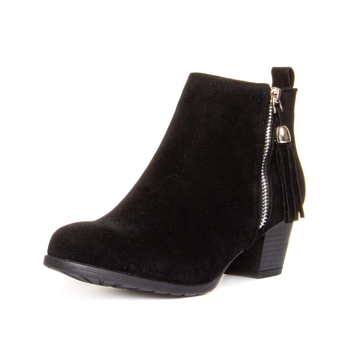 LILLEY Womens Black Faux Suede Heeled