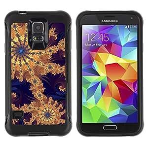 Suave TPU Caso Carcasa de Caucho Funda para Samsung Galaxy S5 SM-G900 / Wallpaper Pattern Design Artwork Drawing / STRONG