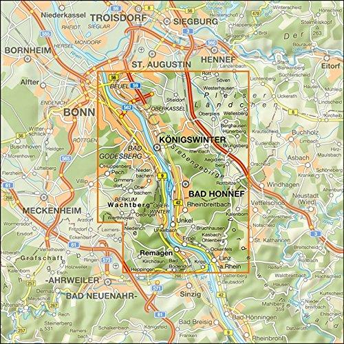 Wanderkarte Naturpark Siebengebirge Mit Aktuellen Wegeplan Im