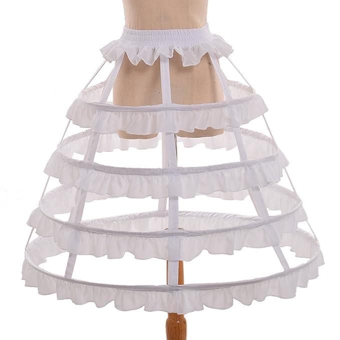 GRACEART Victoriano Vestir Cesto Aro Falda Bullicio Jaula (Blanco)