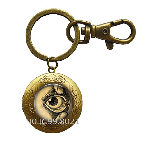 Amazon.com: Anatómico ojo Locket llavero, anatómico ojo ...