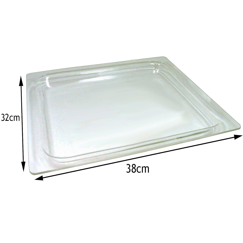 Spares2go cristal bandeja para Bosch Microondas y horno cocina (38 ...