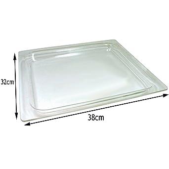Spares2go cristal bandeja para Bosch Microondas y horno cocina (38 cm x 32 cm)