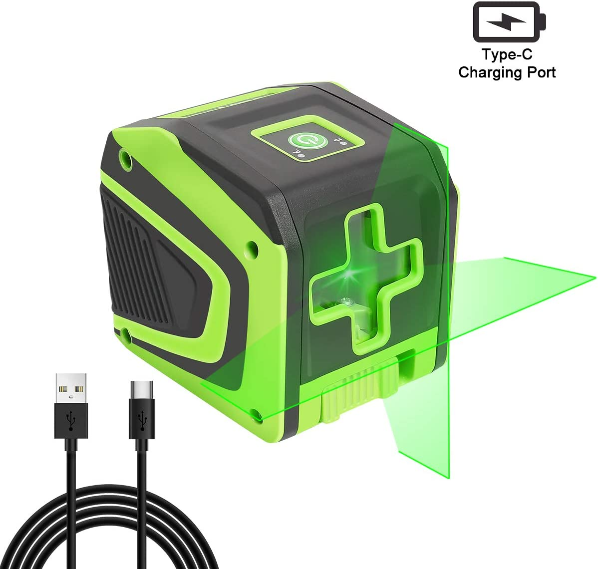 Huepar Self-leveling Laser Level with Rechargeable Li-ion Battery- Green Beam Cross Line Laser Level with Pulse Mode for Ceiling Floor Wall Application, Magnetic Metal Base Included – 5011GPro