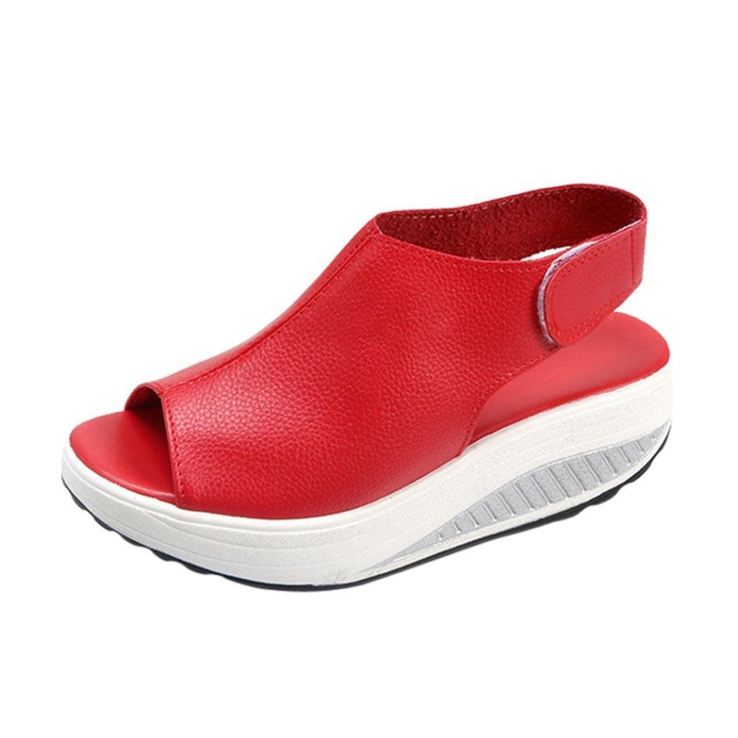 2018 Nouvelles Sandales de Femmes, GreatestPAK Bohême Chaussures à Talons Hauts Summer Shake Fond épais GreatestPAK-981