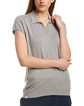 adidas Sweater Knit Short Sleeve Polo, Mujer: Amazon.es: Deportes ...