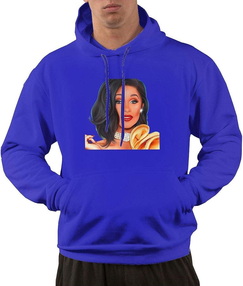 JEEZORN Casual Cardi B Sweatshirt for Mans Black