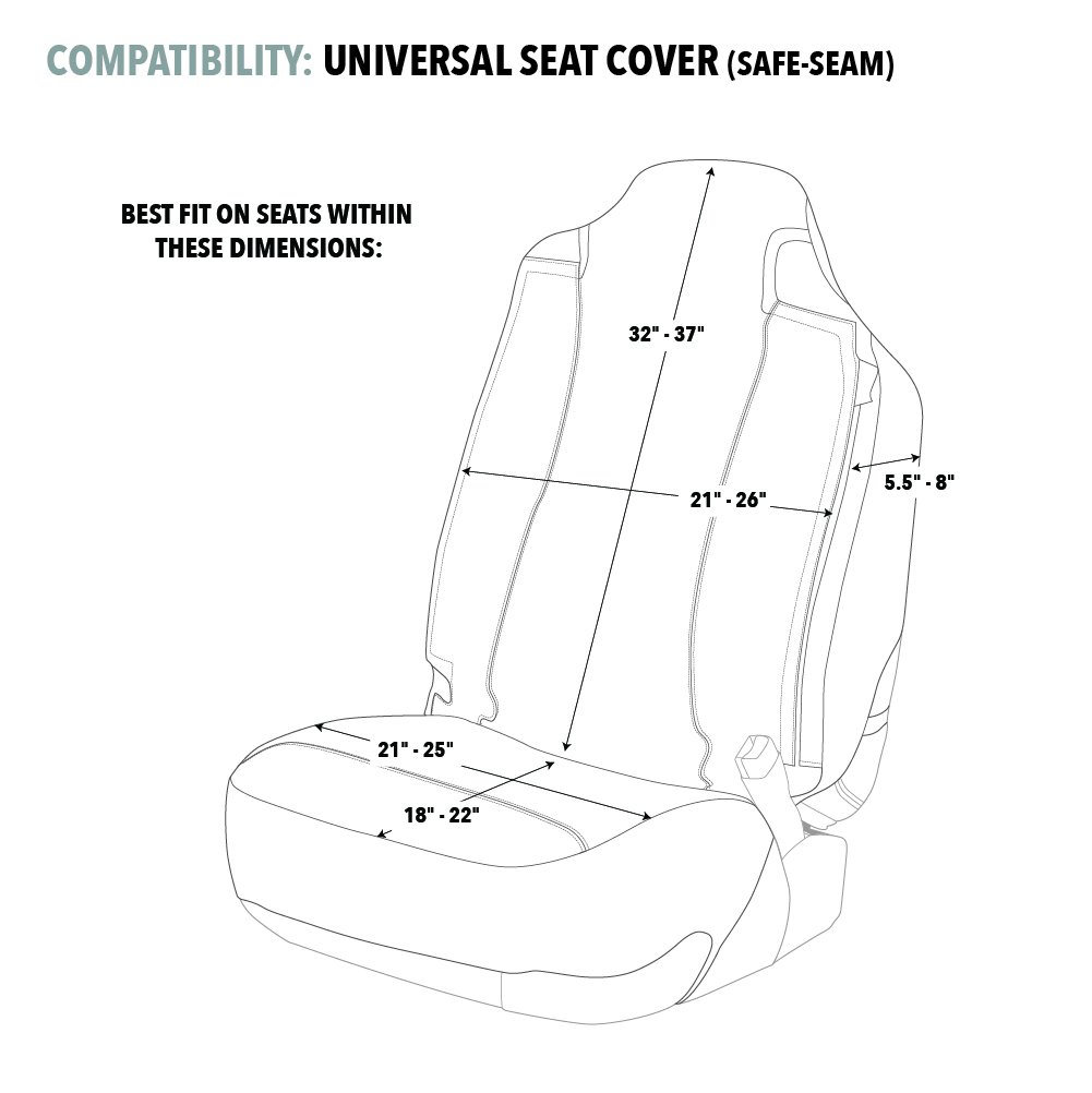 BSC4412 Universal Browning Camo Seat Cover Single Signature Products Group Infinity SPG