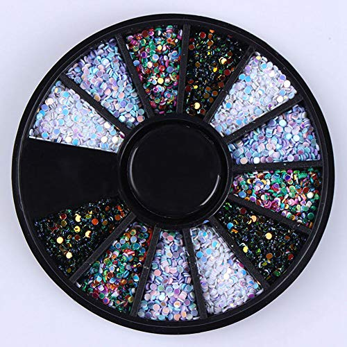 (Nail Art Accessories Crystal Rhinestone Christmas Wheel Decoration Manicure Tool (Color - mixed color#005))