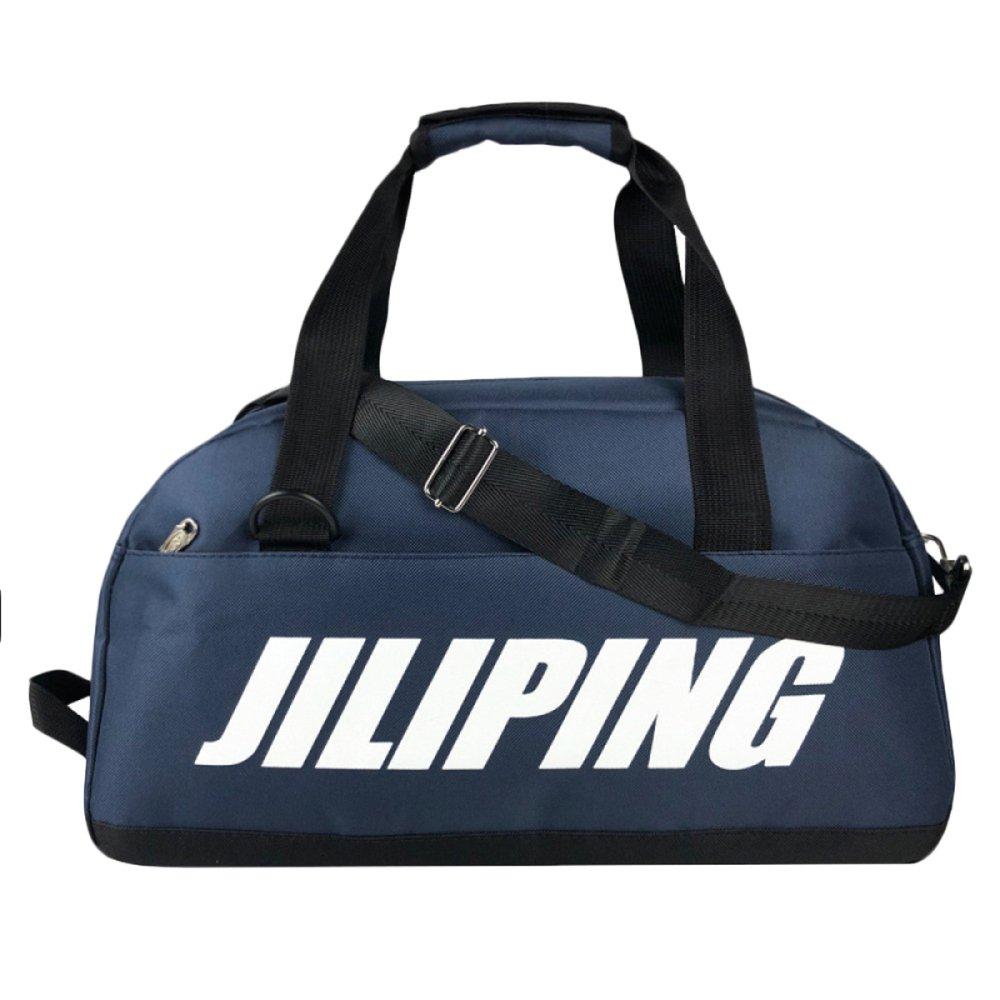 ジムバッグメンズHallallトラベルホールドオールバッグダッフルバッグ軽量ポータブル大容量シンプルなトラベルバッグ、ダークブルー - ワンサイズ   B07D4BY633
