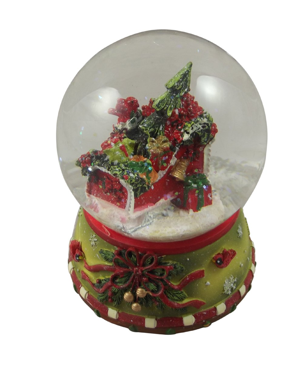 Gisela Graham Christmas Decoration Traditional Sleigh Scene Snowglobe