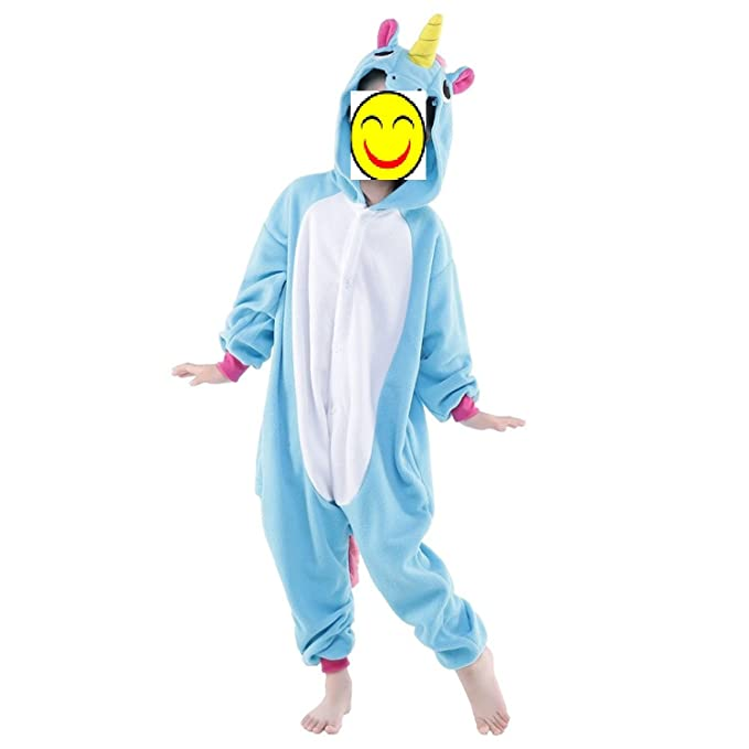 Misslight pijama o disfraz de unicornio unisex para niño o adulto Azul azul