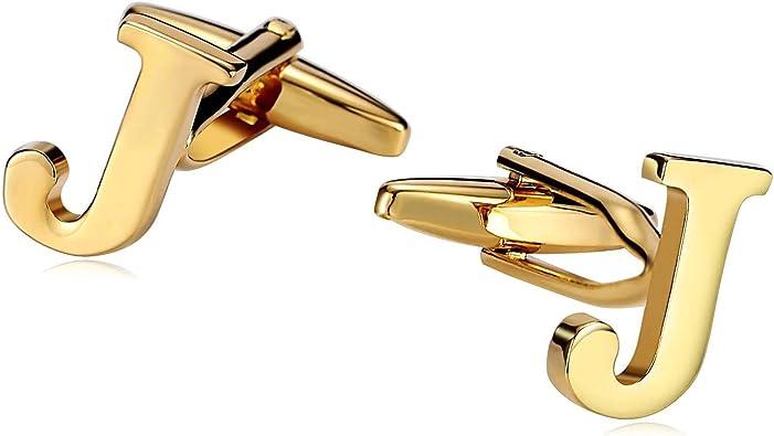 Daesar Gemelos Camisa Acero Gemelos Camisa Letra J Gemelos Hombre Oro: Amazon.es: Joyería