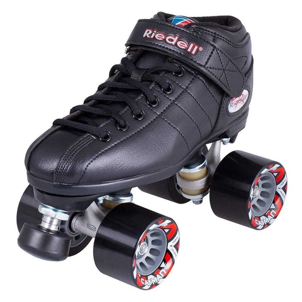 Riedell Skates - R3 - Quad Roller Skate for Indoor / Outdoor | Black | Size 9