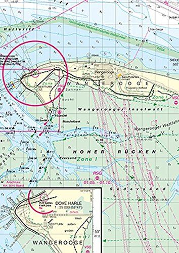 Emsmündung (Deutsche Seekarte) Landkarte – 1. Dezember 2014 3869876298 Deutschland Niederlande Niedersachsen