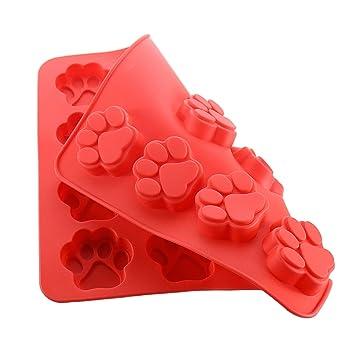Joyoldelf 2 x moldes del silicona Cachorro Paws & Bones para hornear moldes de pan bandejas de hielo chocolate caramelos: Amazon.es: Hogar