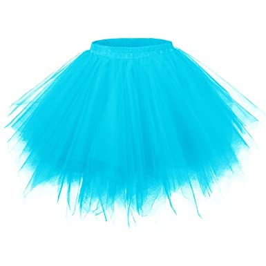 41c1b230f36137 GirstunmBrand Damen 50er Vintage Tüllrock Petticoat Mehrfarbig Bubble  Tanzkleid Rock: Amazon.de: Bekleidung